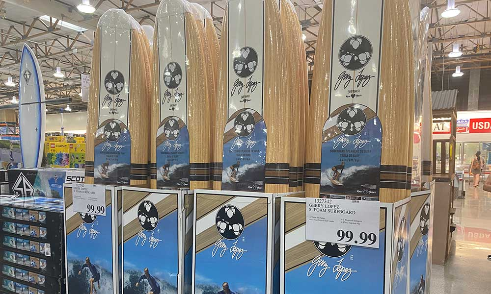 The Gerry Lopez Foam Board at Costco for $99.