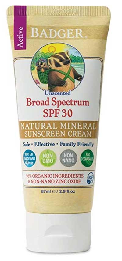 Badger - SPF 30 Zinc Oxide Sunscreen Cream