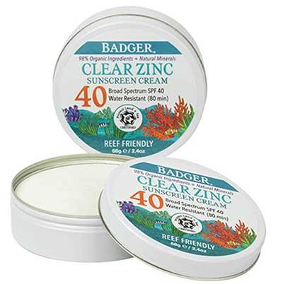 Badger - SPF 40 Clear Zinc Sport Sunscreen Tin