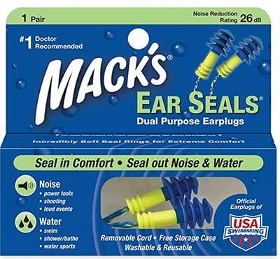 Mack's Ear Seals Dual Purpose Earplugs