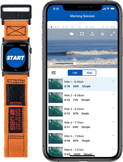 The Surfline app.