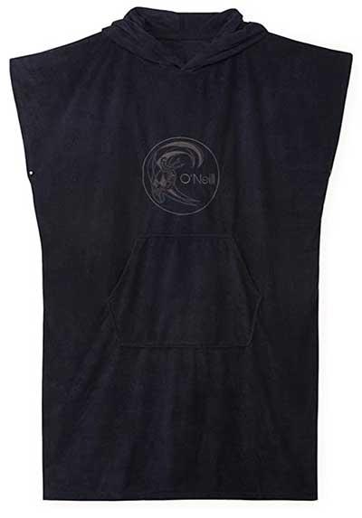 O'Neill Men's Typhoon Hooded Beach Towel (Black)