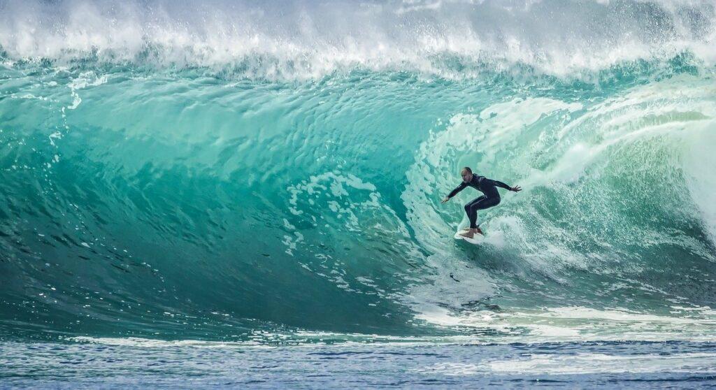 wave, surfer, sport