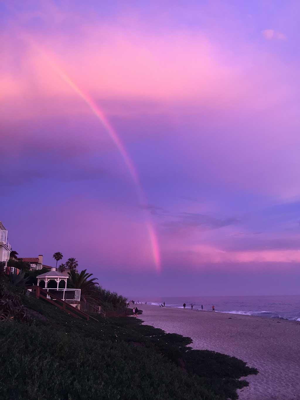 Rainbow at Sunset - Carlsbad, CA (no filter)