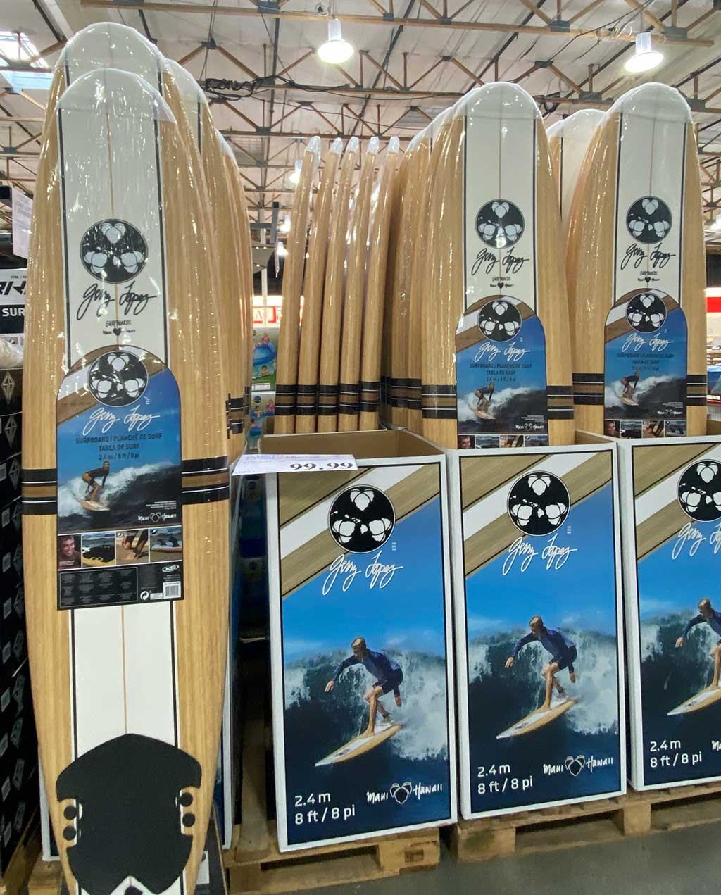 The Gerry Lopez 8' Foam Surfboard at Costco